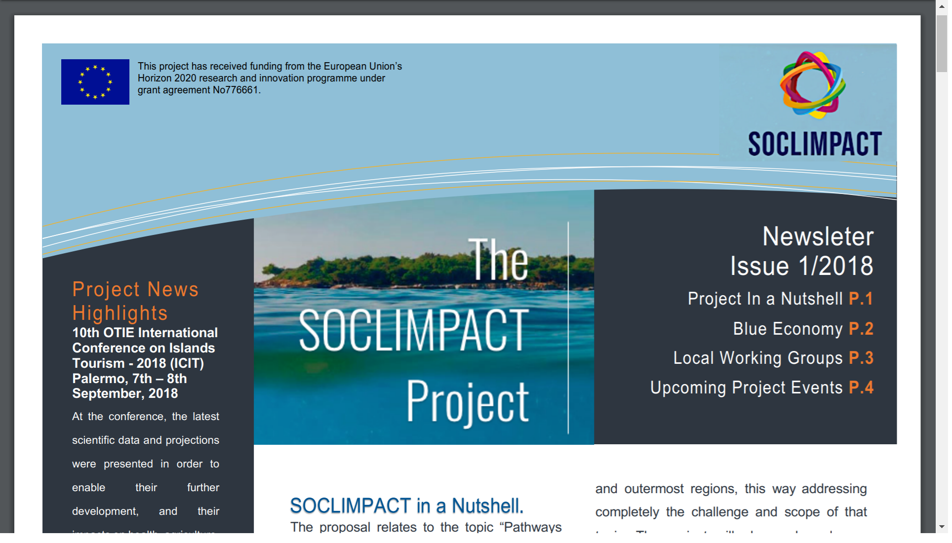 Soclimpact's first newsletter issued!