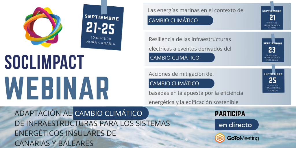 ADAPTATION TO CLIMATE CHANGE FOR THE ISLANDS' ENERGY SYSTEMS WEBINAR 21st – 25th SEPTEMBER