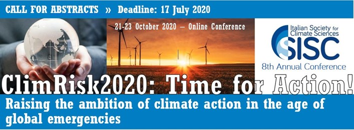 October 21-23th , 2020 – ClimRisk2020, Online Conference