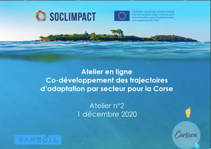 Online Regional Workshop: Co-developing sector adaptation pathways in Corsica