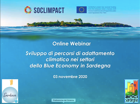 Online Regional Workshop: Co-developing sector adaptation pathways in Sardinia